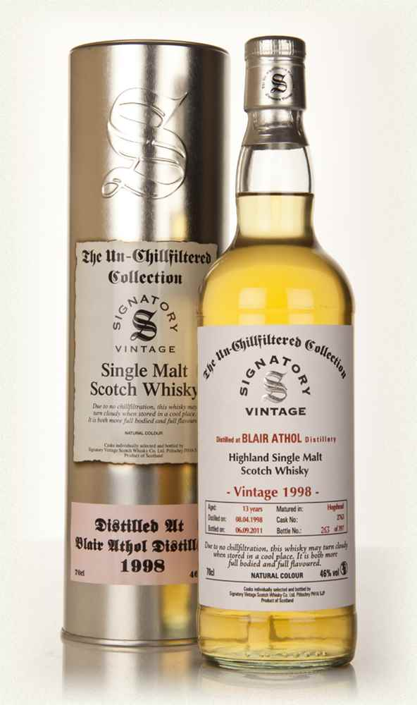 Blair Athol 13 Year Old 1998 - Un-Chillfiltered (Signatory)