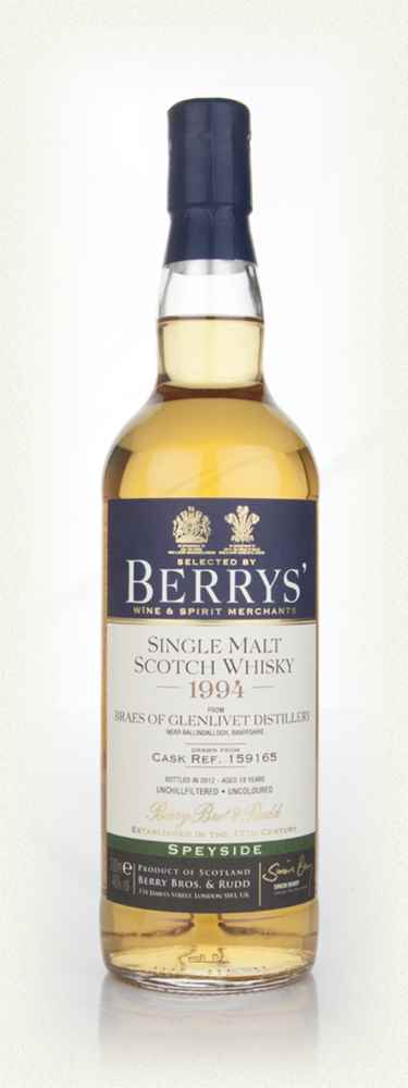 Braes of Glenlivet 18 Year Old 1994 (Berry Bros. & Rudd)