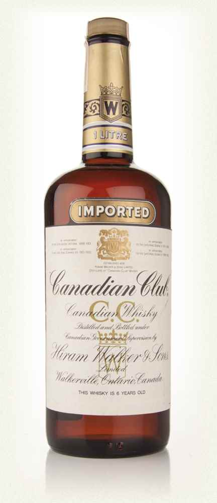 Canadian Club Whisky 6 Year Old (Old Bottling) 1l
