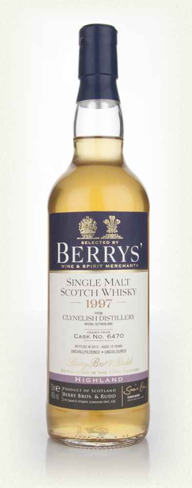 Clynelish 15 Year Old 1997 (cask 6470) (Berry Bros. & Rudd)
