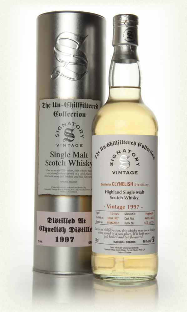 Clynelish 15 Year Old 1997 - Un-Chillfiltered (Signatory)