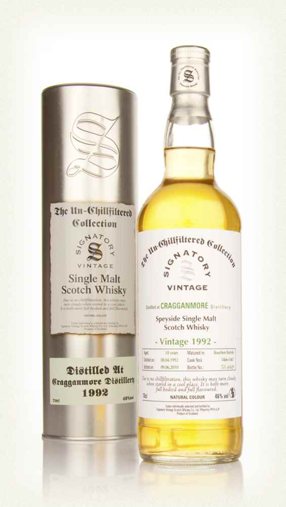 Cragganmore 18 Year Old 1992 - Un-Chillfiltered (Signatory)