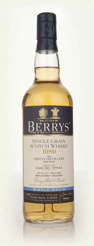 Girvan 1989 (cask 37532) (Berry Bros. & Rudd)