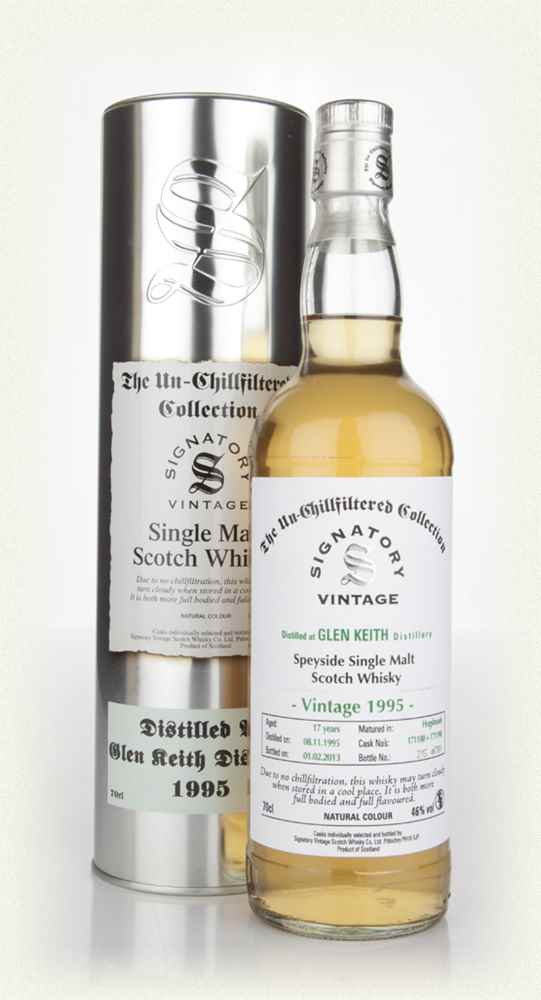 Glen Keith 17 Year Old 1995 (casks 171188+171190) - Un-Chillfiltered (Signatory)