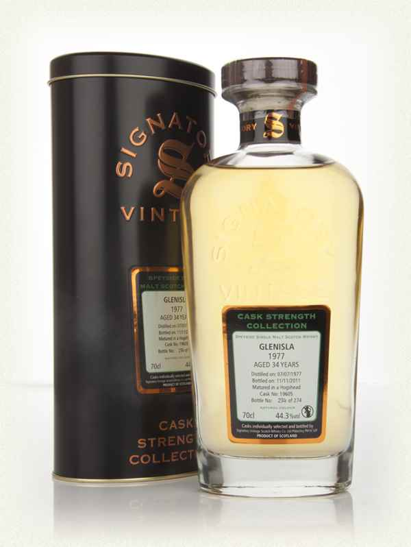 Glenisla 34 Year Old 1977 - Cask Strength Collection (Signatory)