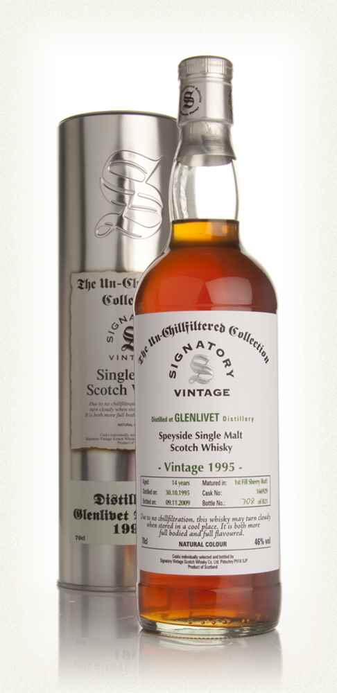 Glenlivet 14 Year Old 1995 - Un-Chillfiltered (Signatory)