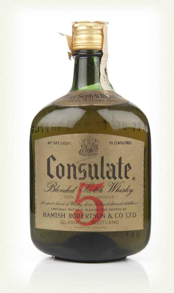 Consulate 5 Year Old Blended Scotch Whisky - 1960s