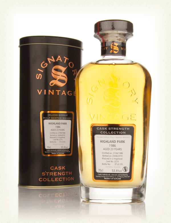 Highland Park 23 Year Old 1986 Cask 2274 - Cask Strength Collection (Signatory)