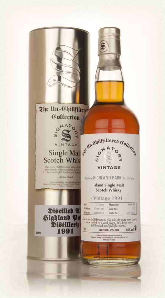 Highland Park 21 Year Old 1991 (cask 13/72) - Un-Chillfiltered Collection (Signatory)