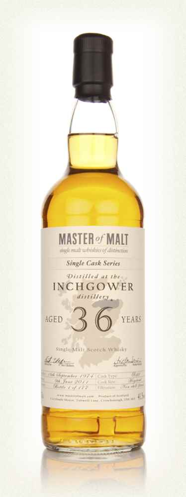 Inchgower 36 Year Old 1974 - Single Cask (Master of Malt)