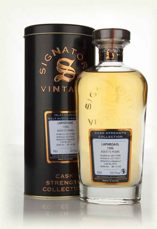 Laphroaig 15 Year Old 1996 Cask 8512 - Cask Strength Collection (Signatory)