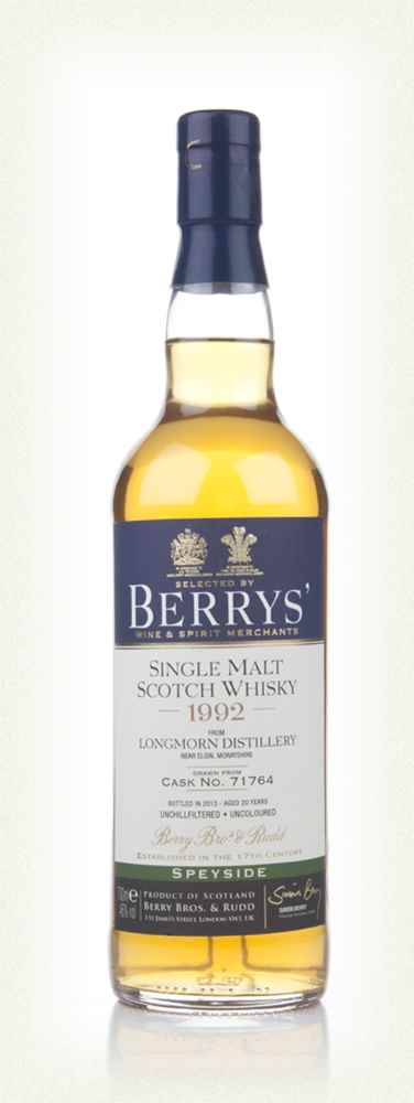 Longmorn 20 Year Old 1992 (cask 71764) (Berry Bros & Rudd)