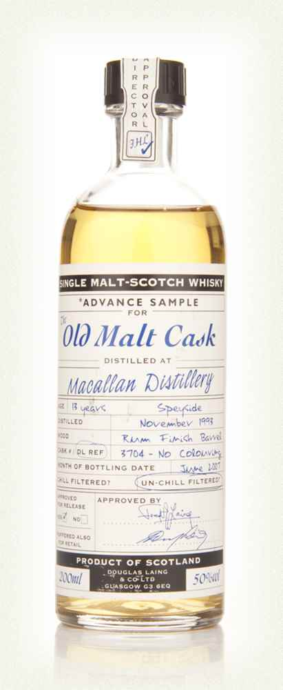 Macallan 13 Year Old 1993 Rum Finish Advance Sample - Old Malt Cask (Douglas Laing)