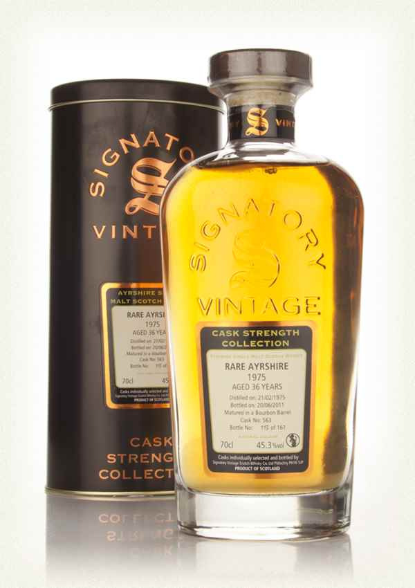 Rare Ayrshire 36 Year Old 1975 Cask 563 - Cask Strength Collection (Signatory)