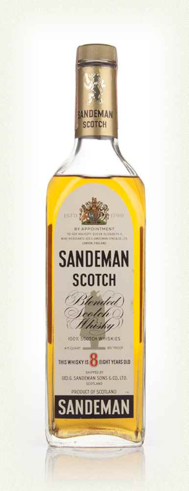 Sandeman 8 Year Old Scotch Whisky - 1970s