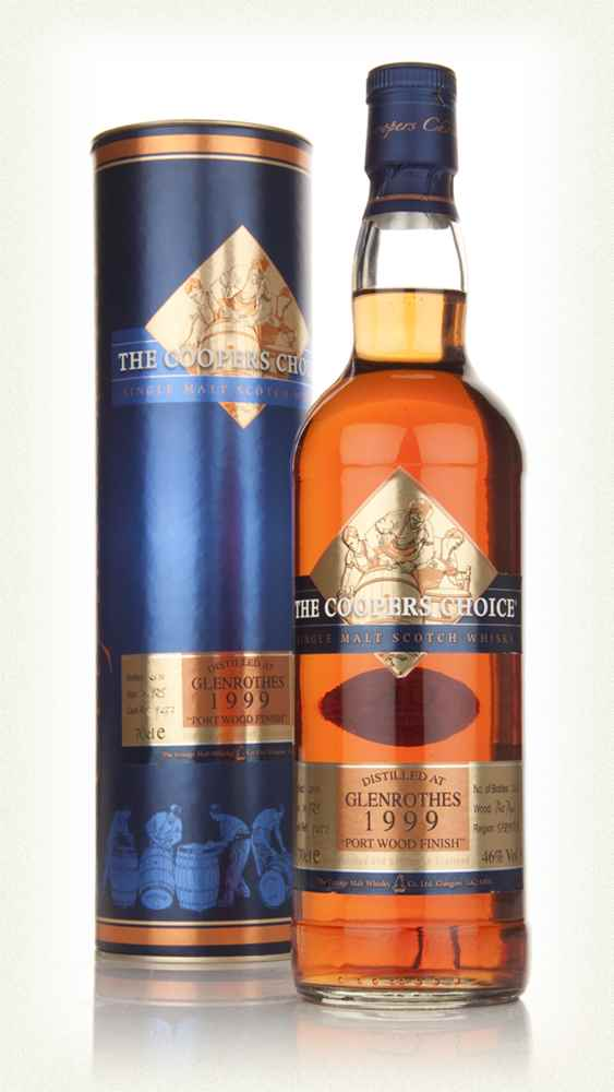 Glenrothes 10 Year Old 1999 Port Wood Finish - The Coopers Choice (The Vintage Malt Whisky Co.)