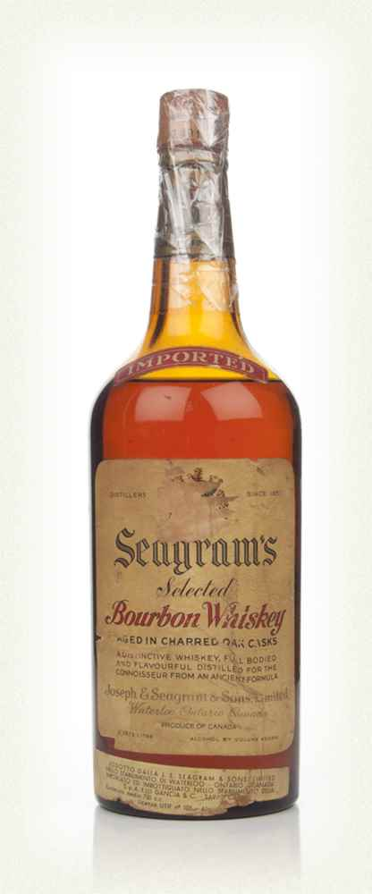 Seagram's Selected Bourbon Whiskey - 1940s