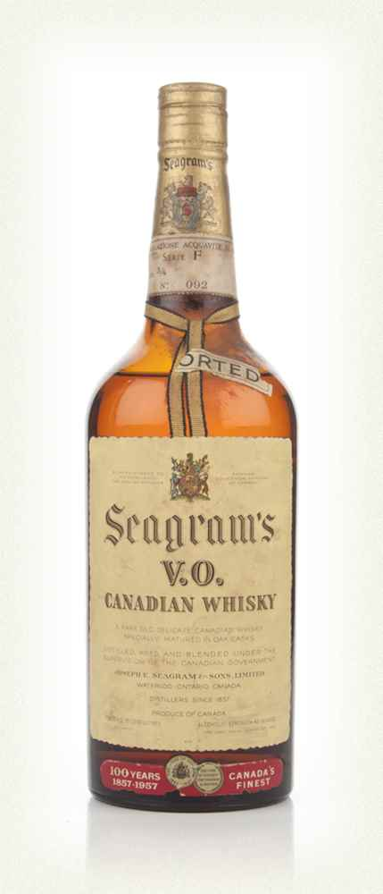 Seagram's V.O. 6 Year Old Canadian Whisky -1957