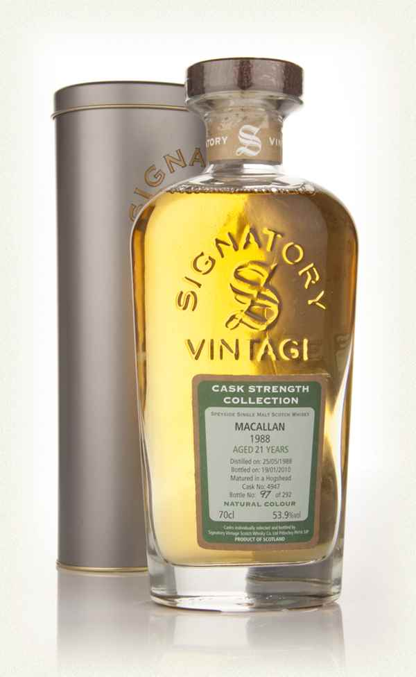 Macallan 21 Year Old 1988 - Cask Strength Collection (Signatory)