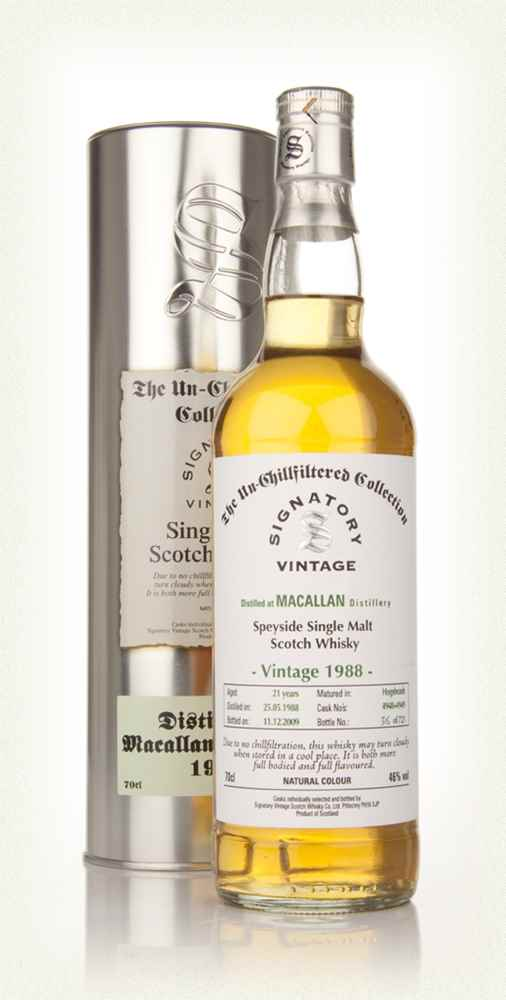 Macallan 1988 21 Year Old - Un-Chillfiltered (Signatory)